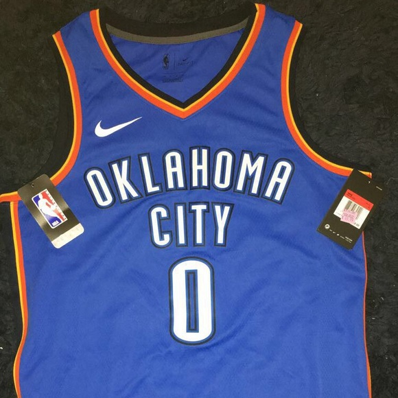 release date b122e 80fb9 Authentic Russell Westbrook Thunder Jersey Large NWT